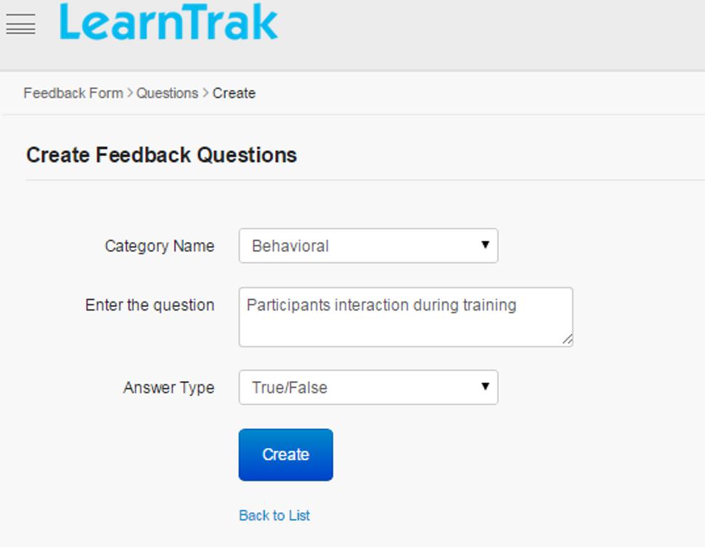 194 Feedback LearnTrak LMS – Trainer Feedback Form Template